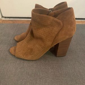 Jessica Simpson tawny suede ankle boots Sz 8.5